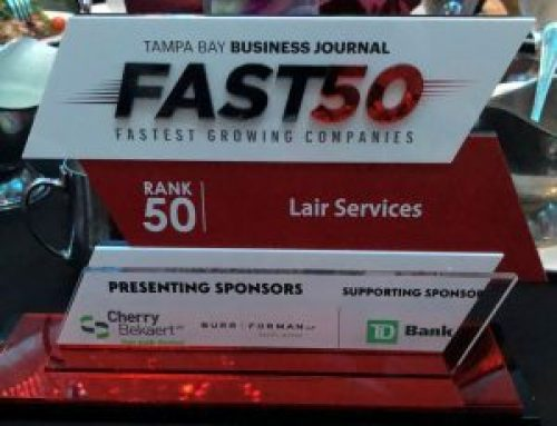 Lair Services Named #50 to Tampa Business Journal Fast 50